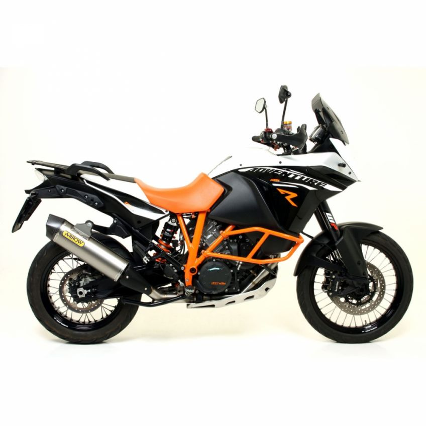 KTM 1190 Adventure R 2013-2016 Full Arrow Exhaust with titanium/carbon silencer (Inc Cat)