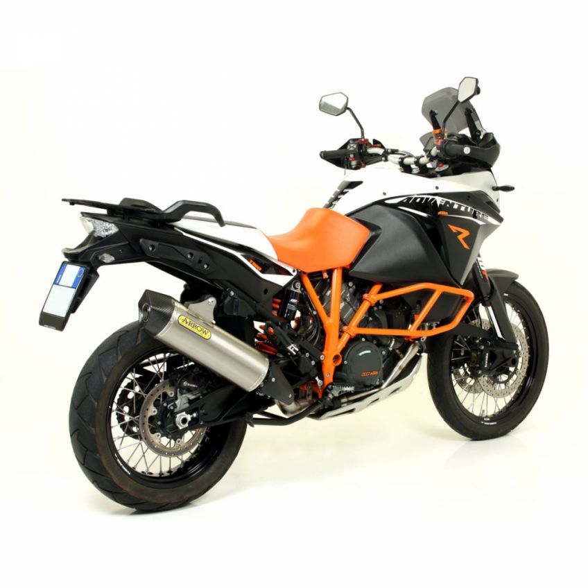 KTM 1190 Adventure R 2013-2016 Arrow road approved titanium/carbon silencer