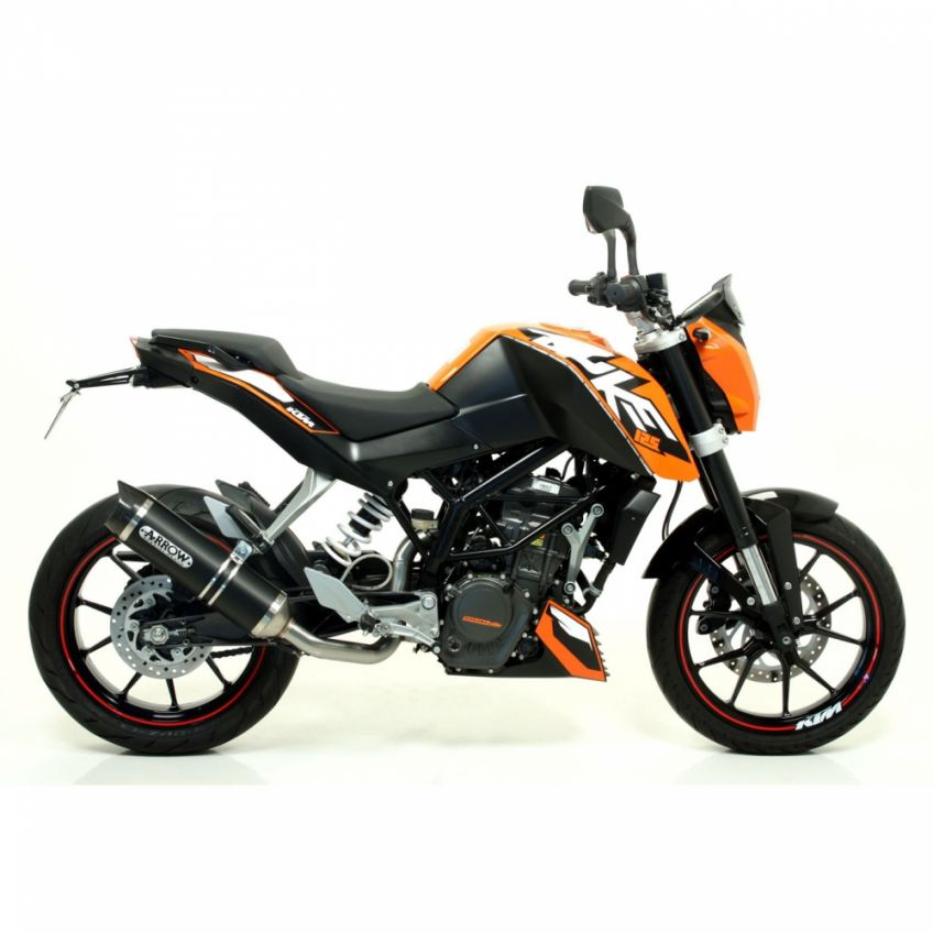 KTM 125 Duke 2011-2016 ARROW road approved Dark Line aluminium/carbon silencer