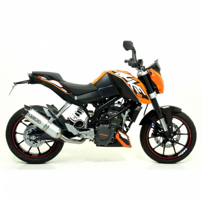 KTM 125 Duke 2011-2016 ARROW road approved aluminium/carbon silencer