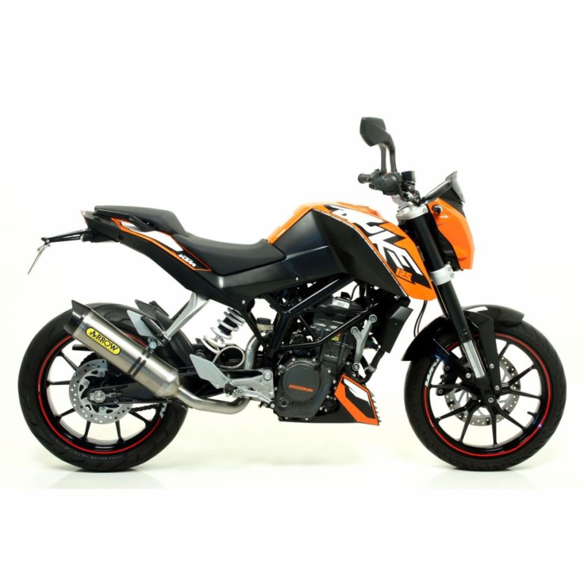 KTM 125 Duke 2011-2016 ARROW road approved titanium/carbon silencer