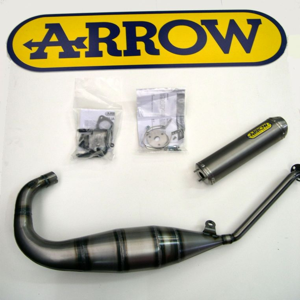 APRILIA RS125 2007-2014 Full ARROW Exhaust System with titanium silencer