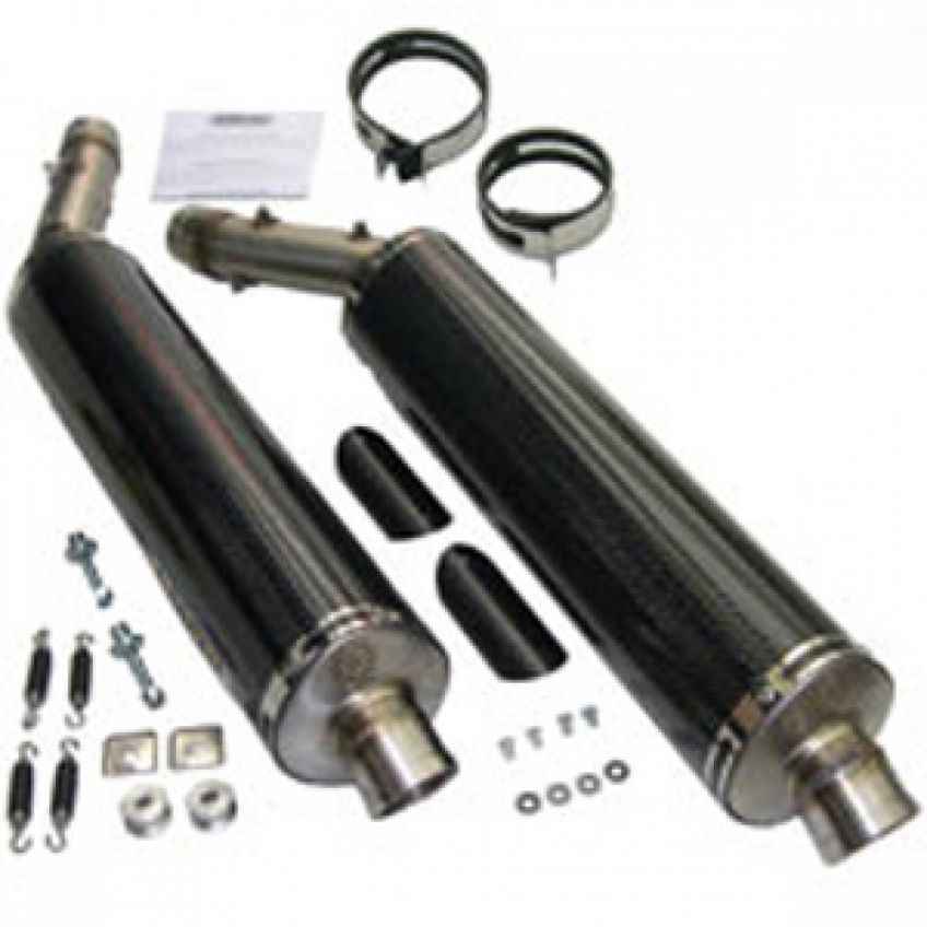 Aprilia RSV1000R/Factory 04-08 ARROW Pair of road approved oval carbon silencers