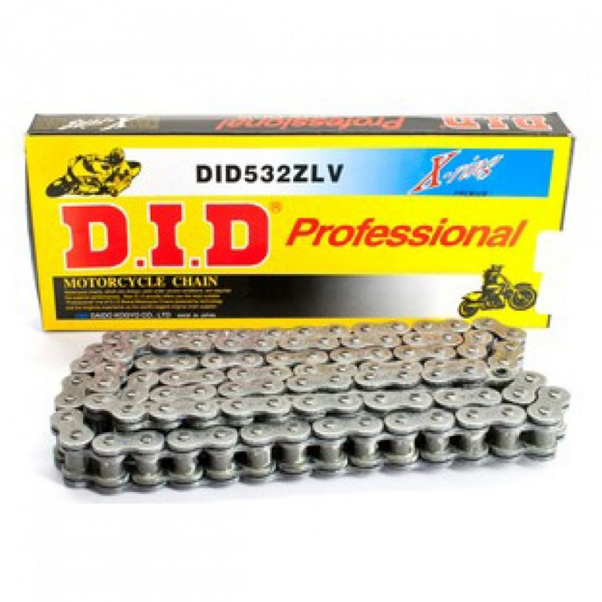 DID 532 ZLV Steel Coloured Heavy Duty X-Ring Chain