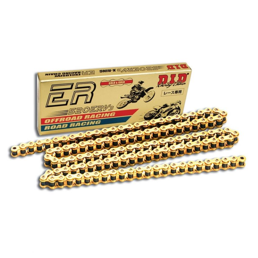 DID 520 ERV Motorcycle Road Race Gold Chain