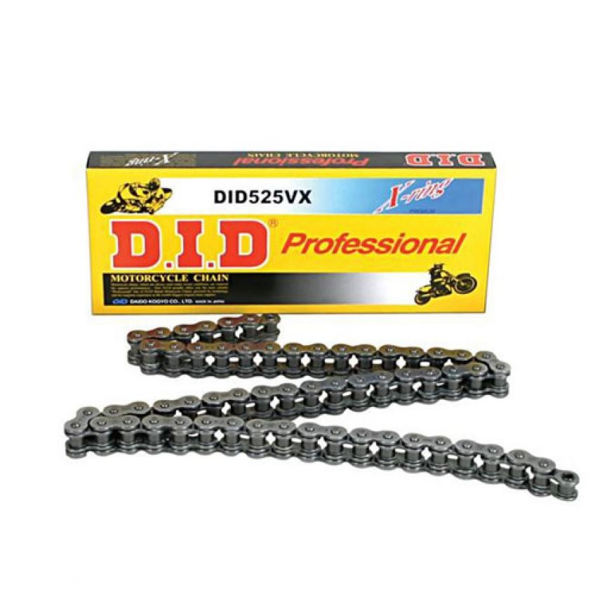 DID 525 VX Steel Coloured X-Ring Chain