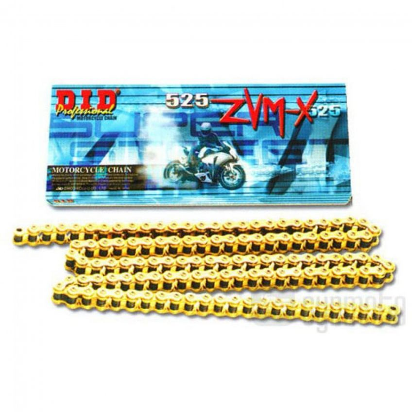 DID 525 ZVM Gold Coloured Heavy Duty X-Ring Chain