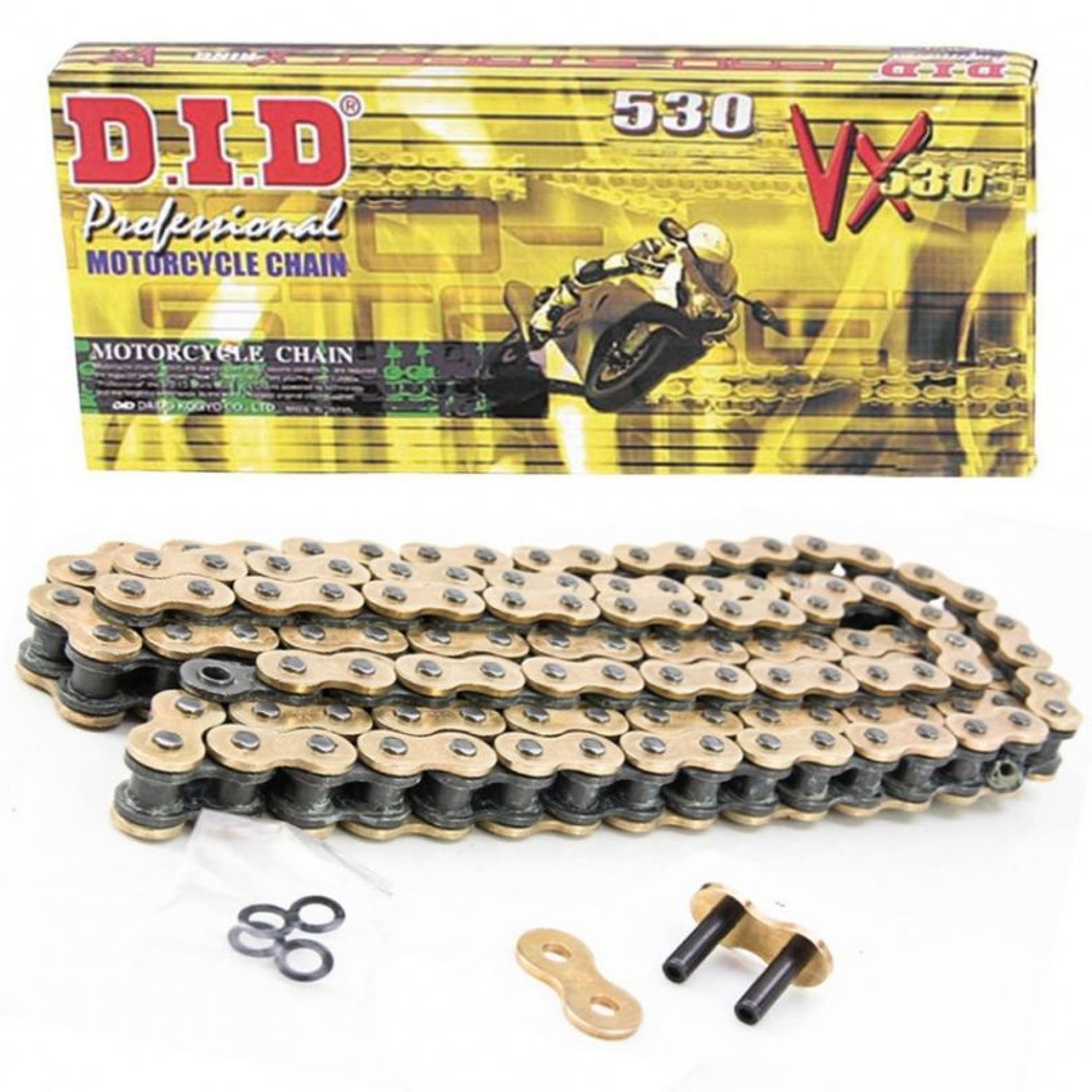 DID 520 VXGB Gold Coloured X-Ring Chain