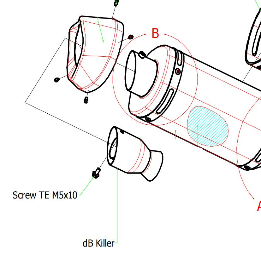 Kawasaki ZX-10RR ARROW Race Silencer Baffle
