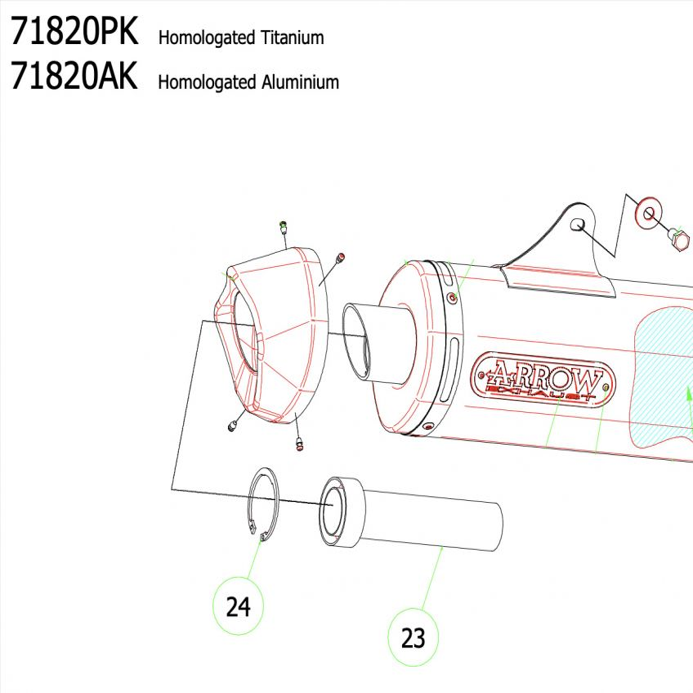 KTM 1290 SUPER DUKE R ARROW Race Tech Silencer Baffle   db Killer