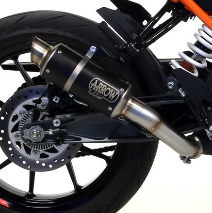 KTM 125 Duke 2017 ARROW Dark Steel GP2 Silencer