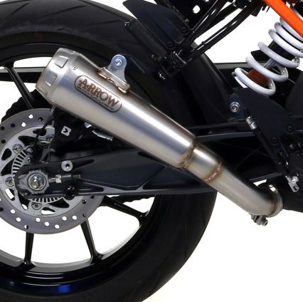 KTM 125 Duke 2017 ARROW Steel Pro Race Cone Silencer